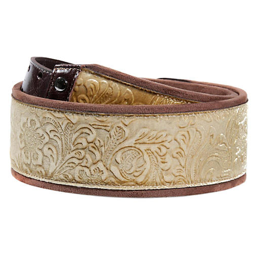 Right On JAZZ Fiore Gold Guitar Strap thumbnail