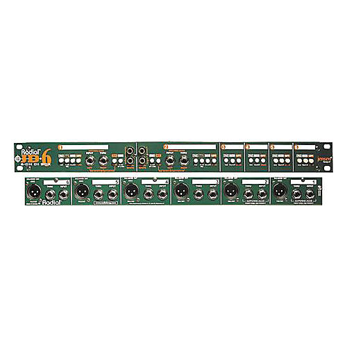 Radial Engineering JD6 6-Channel Rackmount Passive Direct Box thumbnail