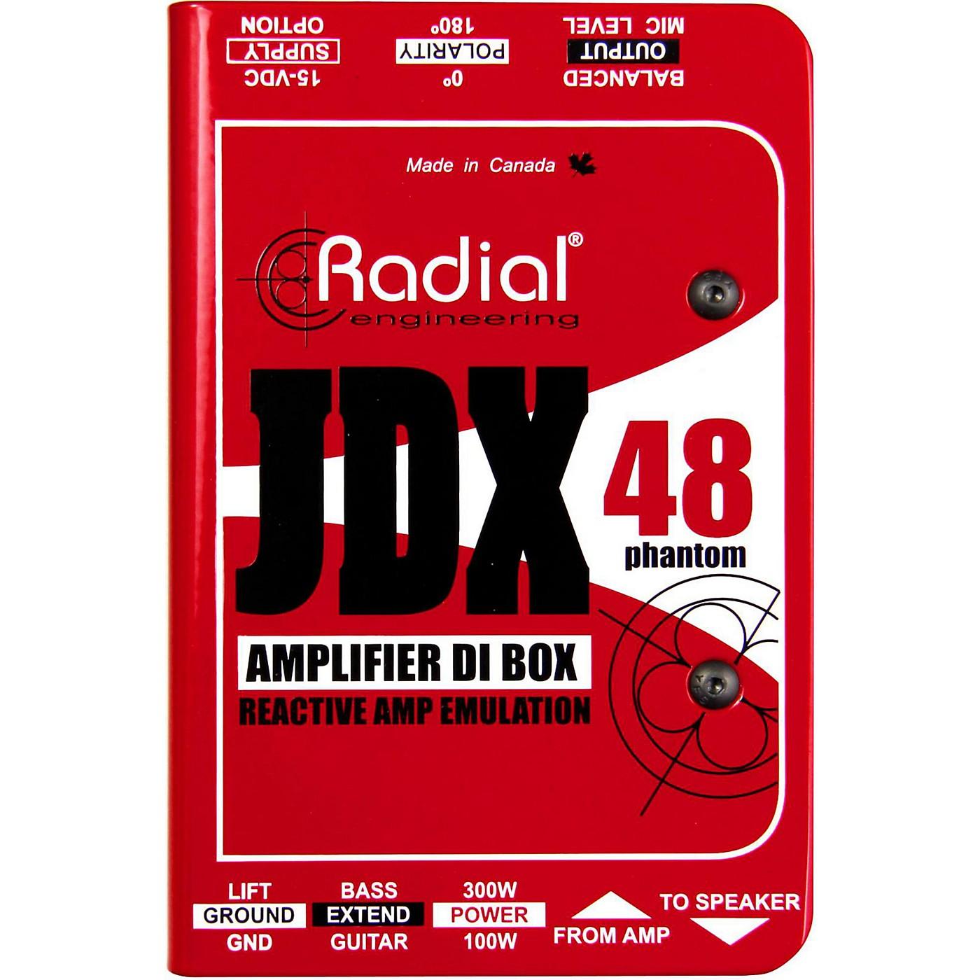 Radial Engineering JDX-48 Reactor Guitar Amp Direct Box thumbnail