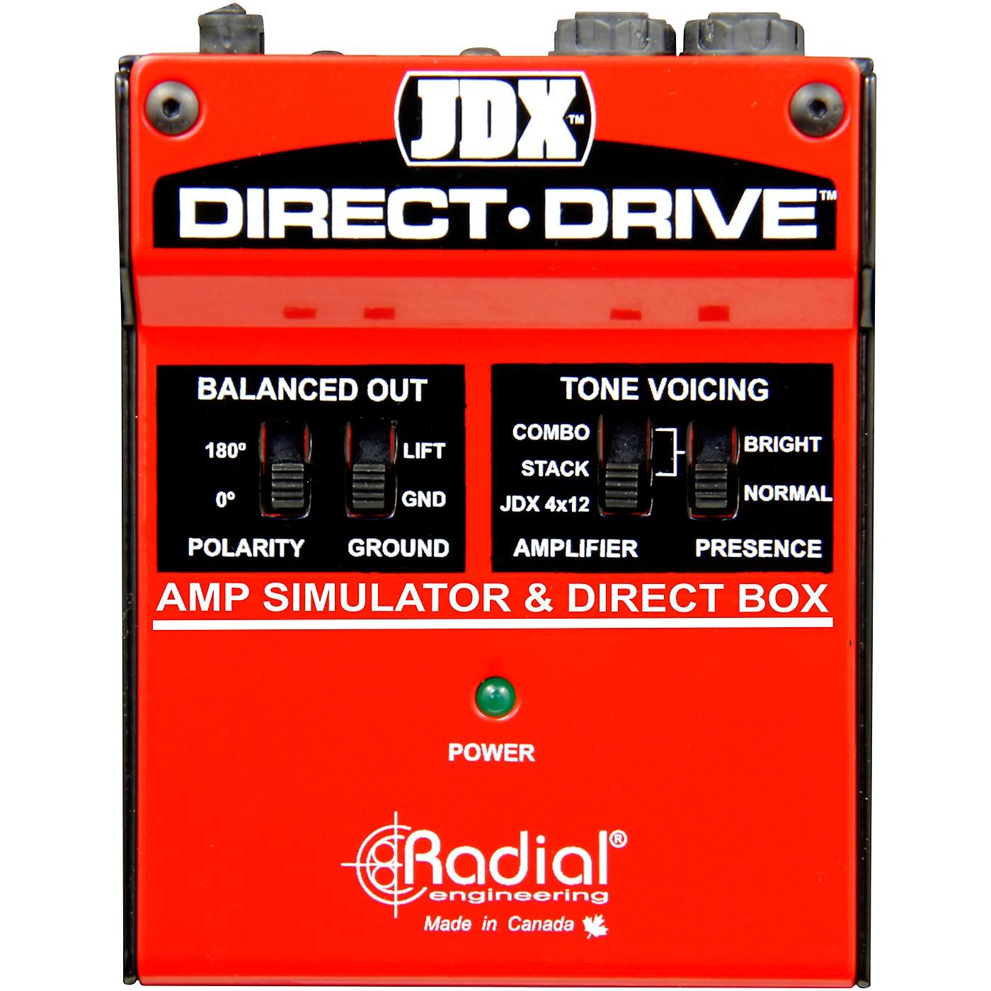 Radial Engineering JDX Direct-Drive Amp Simulator and DI Box Guitar Effects thumbnail