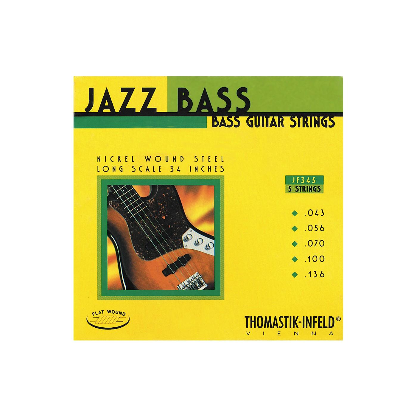 Thomastik JF345 Flatwound 5-String Jazz Bass Strings thumbnail