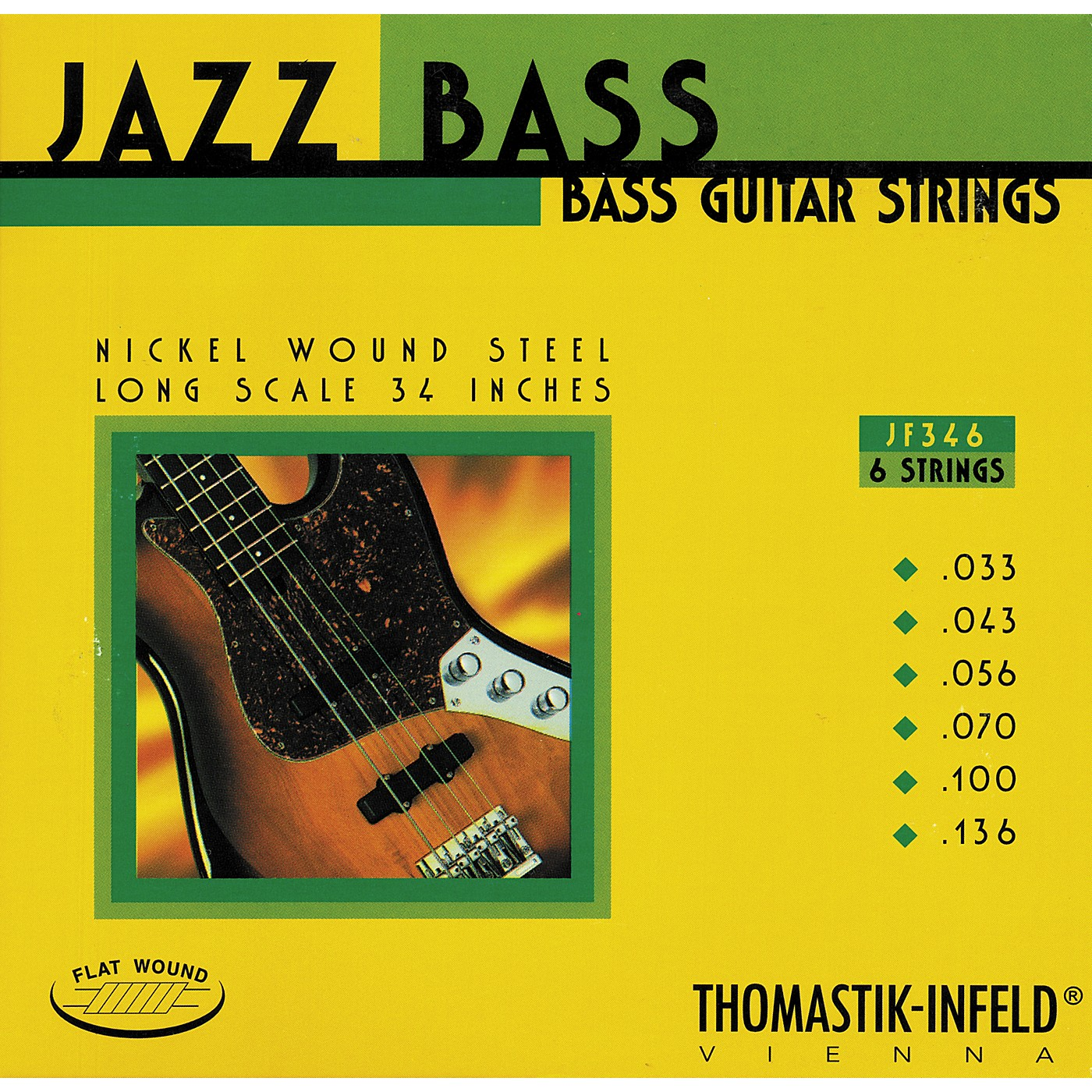 Thomastik JF346 Flatwound Scale 6-String Jazz Bass Strings thumbnail