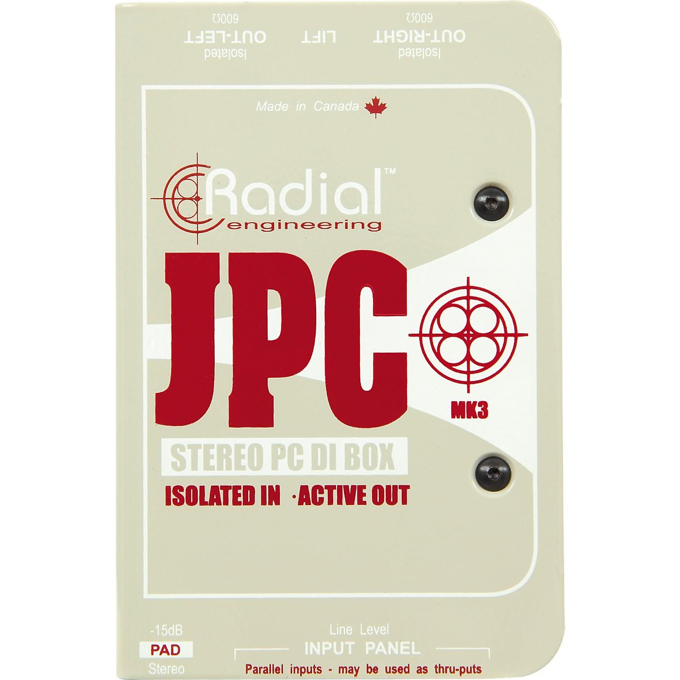Radial Engineering JPC Stereo PC DI Box thumbnail