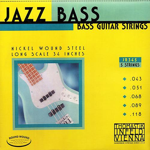 Thomastik JR345 Roundwound Scale 5-String Jazz Bass Strings thumbnail
