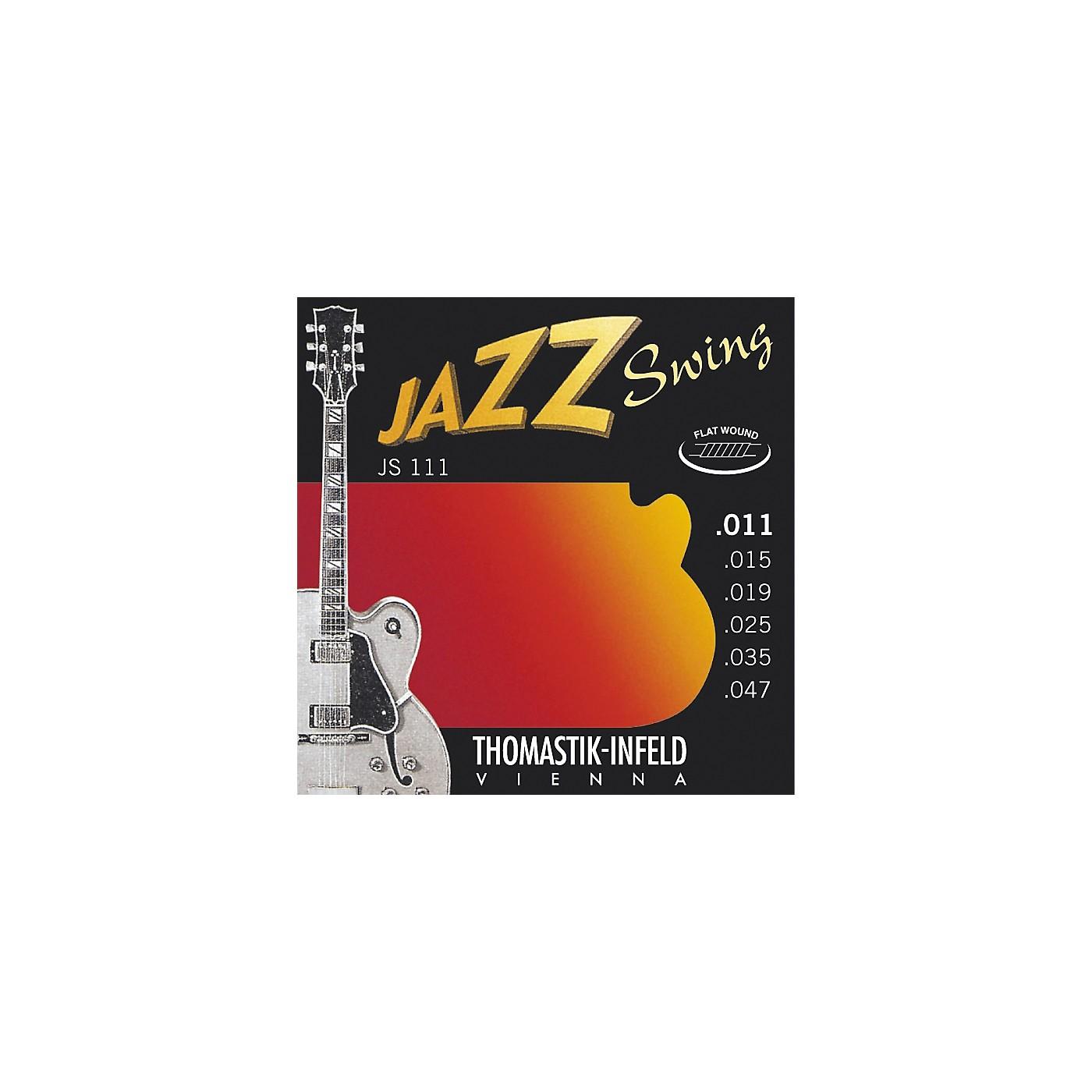 Thomastik JS111 Light Flatwound Jazz Swing Electric Guitar Strings thumbnail