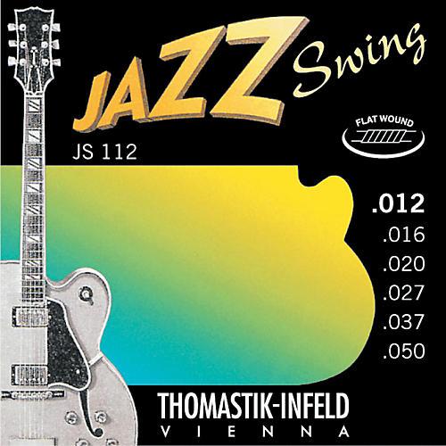 Thomastik JS112 Medium Light Flatwound Jazz Swing Electric Guitar Strings thumbnail
