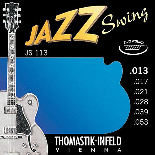 Thomastik JS113 Medium Flatwound Jazz Swing Electric Guitar Strings-thumbnail