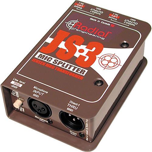 Radial Engineering JS3 Passive Microphone Splitter Direct Box thumbnail