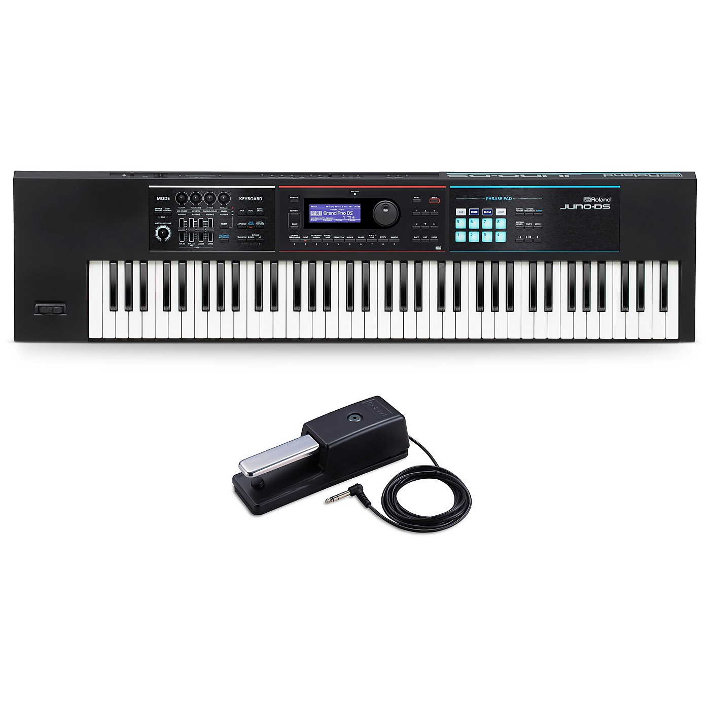 Roland JUNO-DS76 Synthesizer With DP-10 Pedal thumbnail