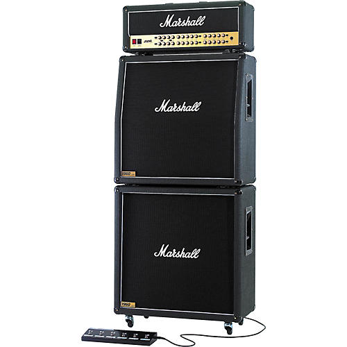Marshall JVM410 Head with 1960A and 1960B Tube Guitar Full Stack Regular thumbnail