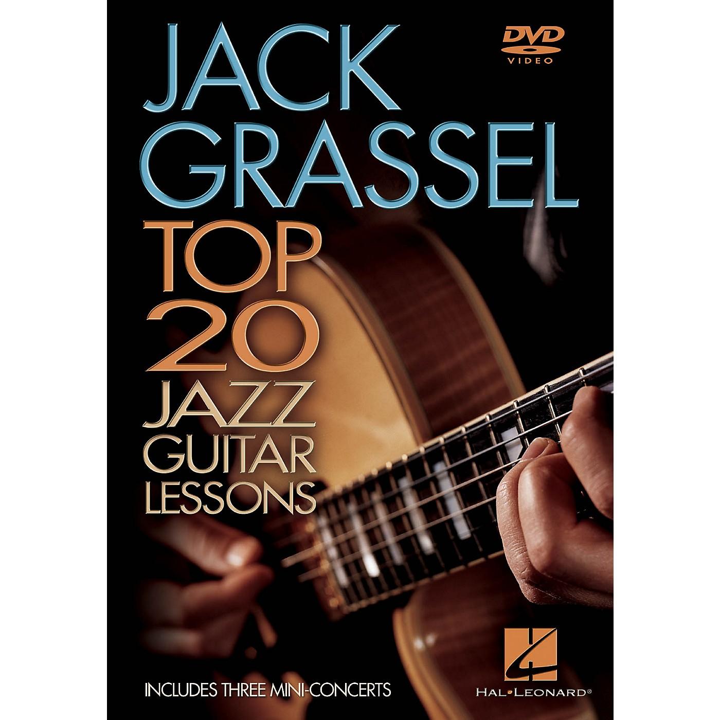 Hal Leonard Jack Grassel - Top 20 Jazz Guitar Lessons Instructional/Guitar/DVD Series DVD Performed by Jack Grassel thumbnail