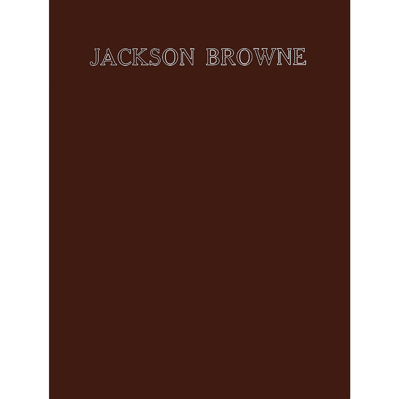 Criterion Jackson Browne (8 Songs from His First Two Albums) Criterion Series Softcover Performed by Jackson Browne thumbnail