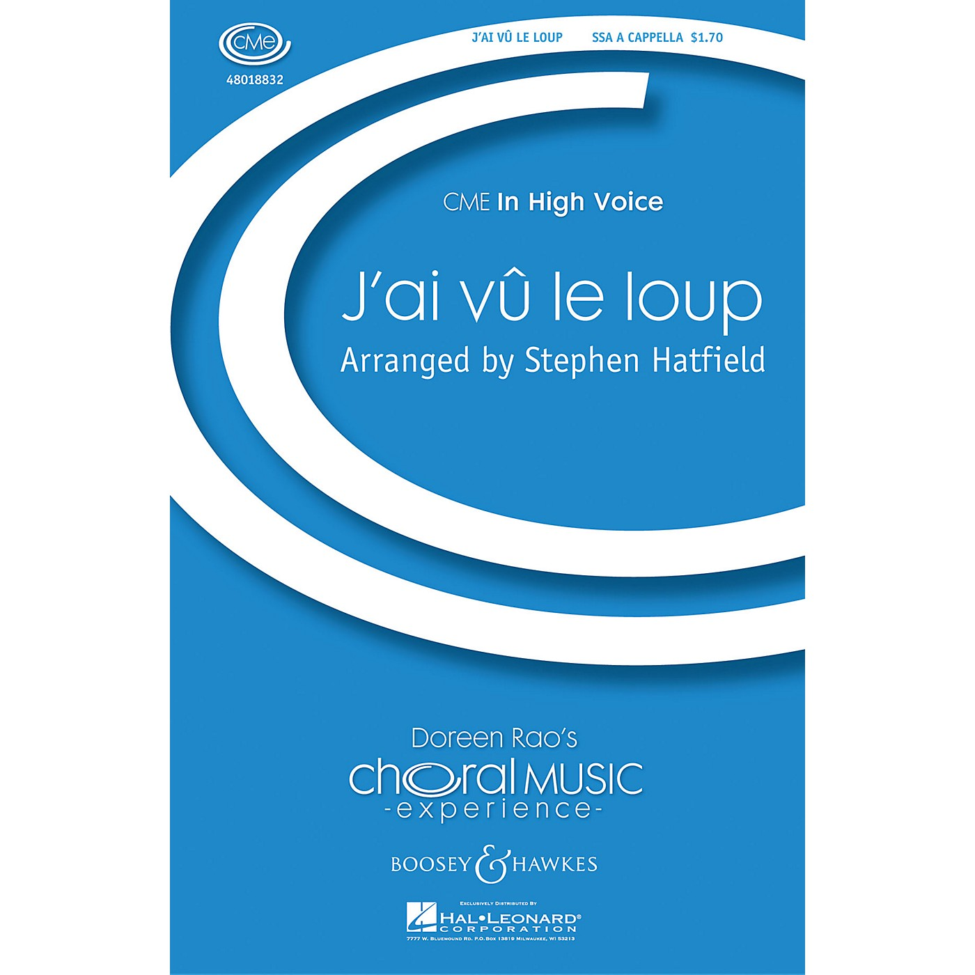 Boosey and Hawkes J'ai vû le loup (CME In High Voice) SSA A Cappella composed by Stephen Hatfield thumbnail