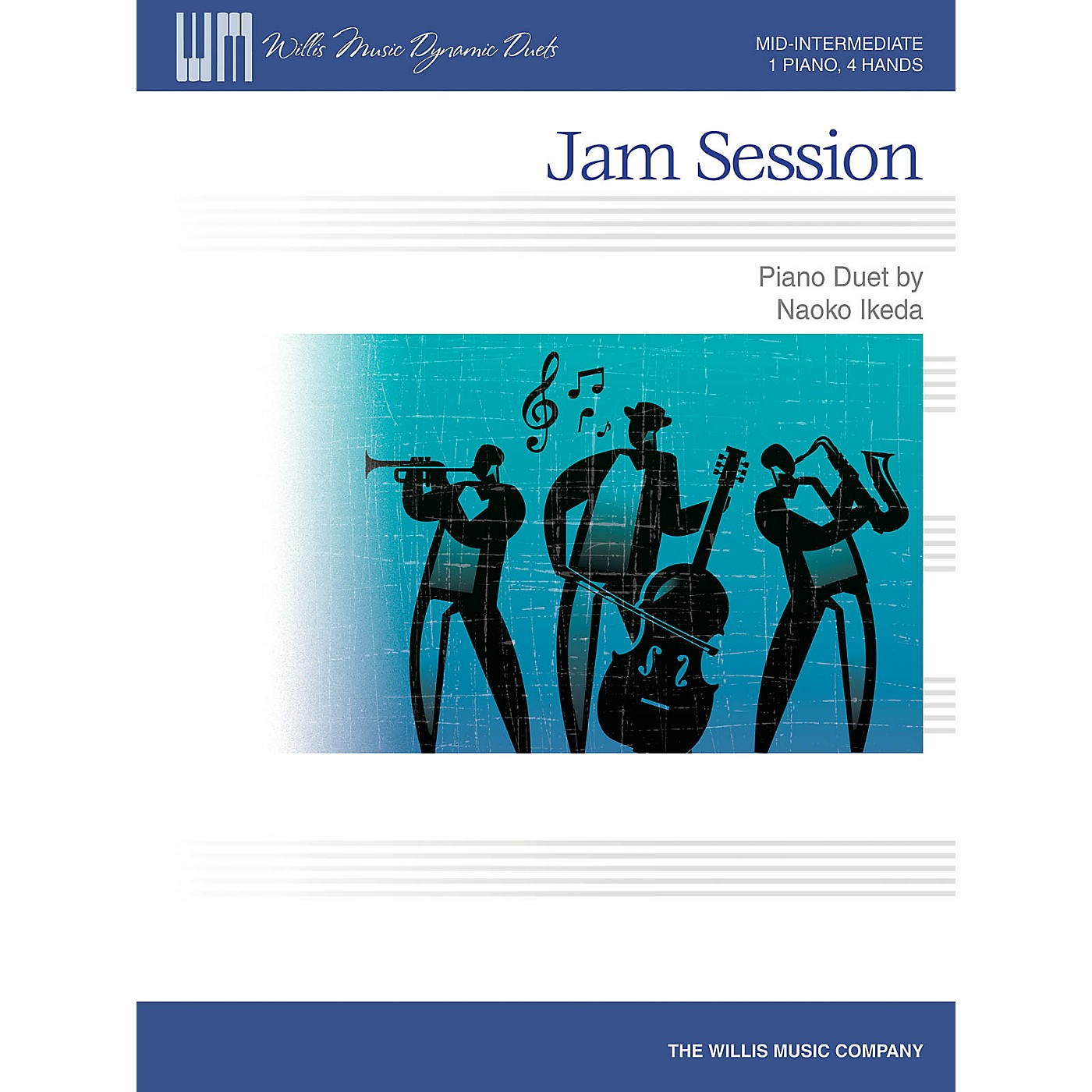 Willis Music Jam Session (Mid-Inter Level 1 Piano, 4 Hands) Willis Series by Naoko Ikeda thumbnail