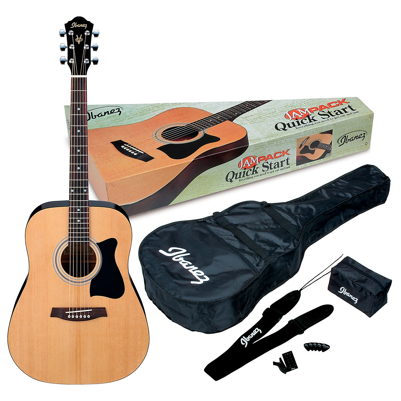 Ibanez JamPack IJV50 Quickstart Dreadnought Acoustic Guitar Pack thumbnail