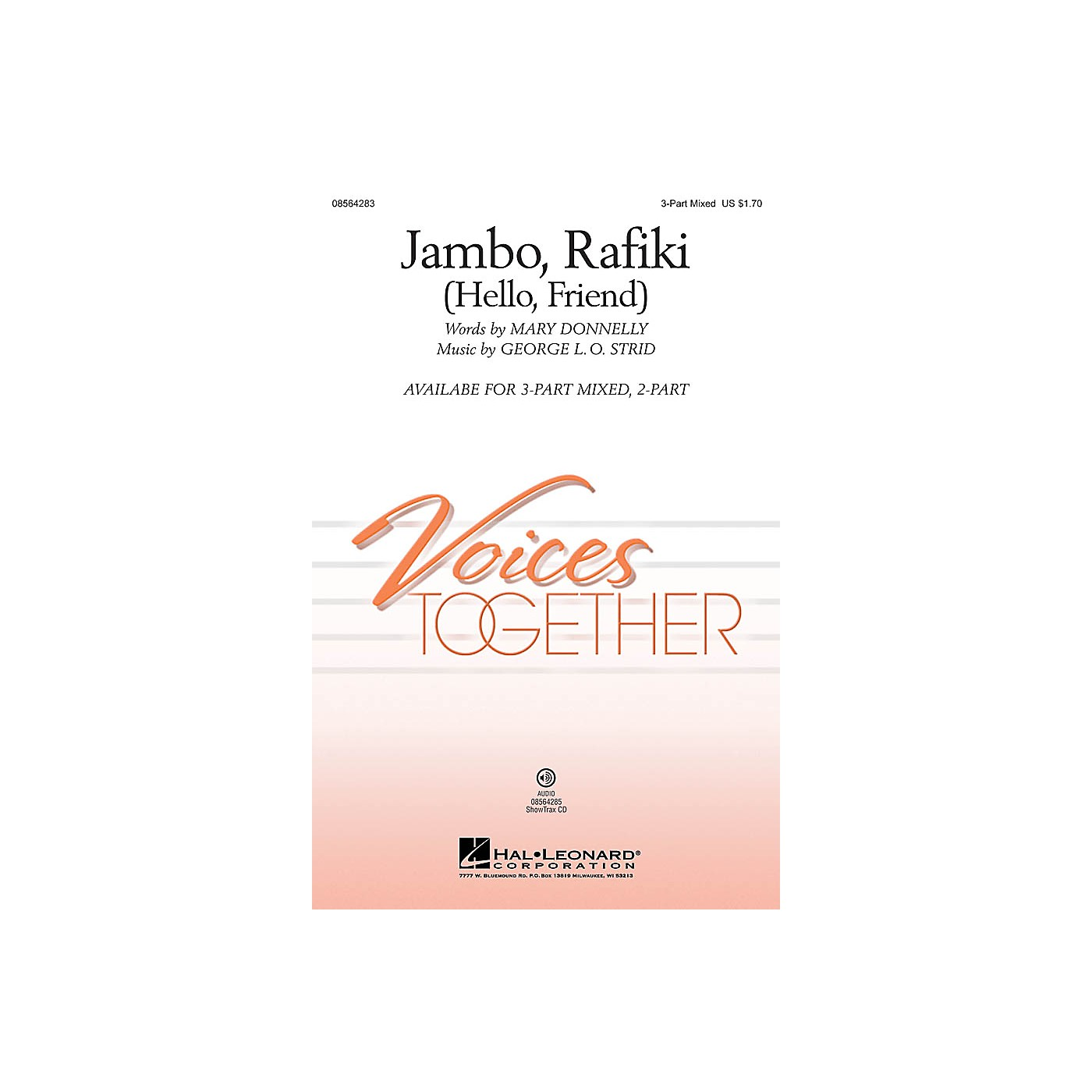 Hal Leonard Jambo, Rafiki (Hello, Friend) 2-Part Composed by Mary Donnelly thumbnail