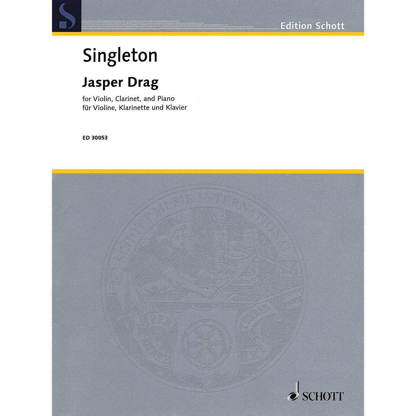 Schott Jasper Drag (Violin, Clarinet, and Piano) Ensemble Series Composed by Alvin Singleton thumbnail