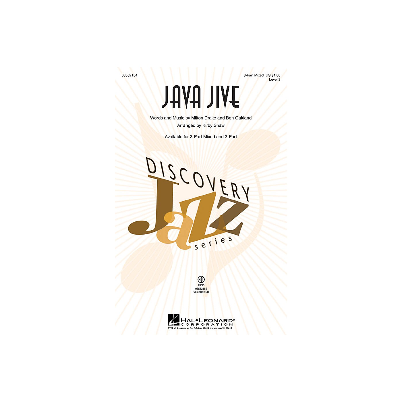 Hal Leonard Java Jive (Discovery Level 3) 2-Part Arranged by Kirby Shaw thumbnail