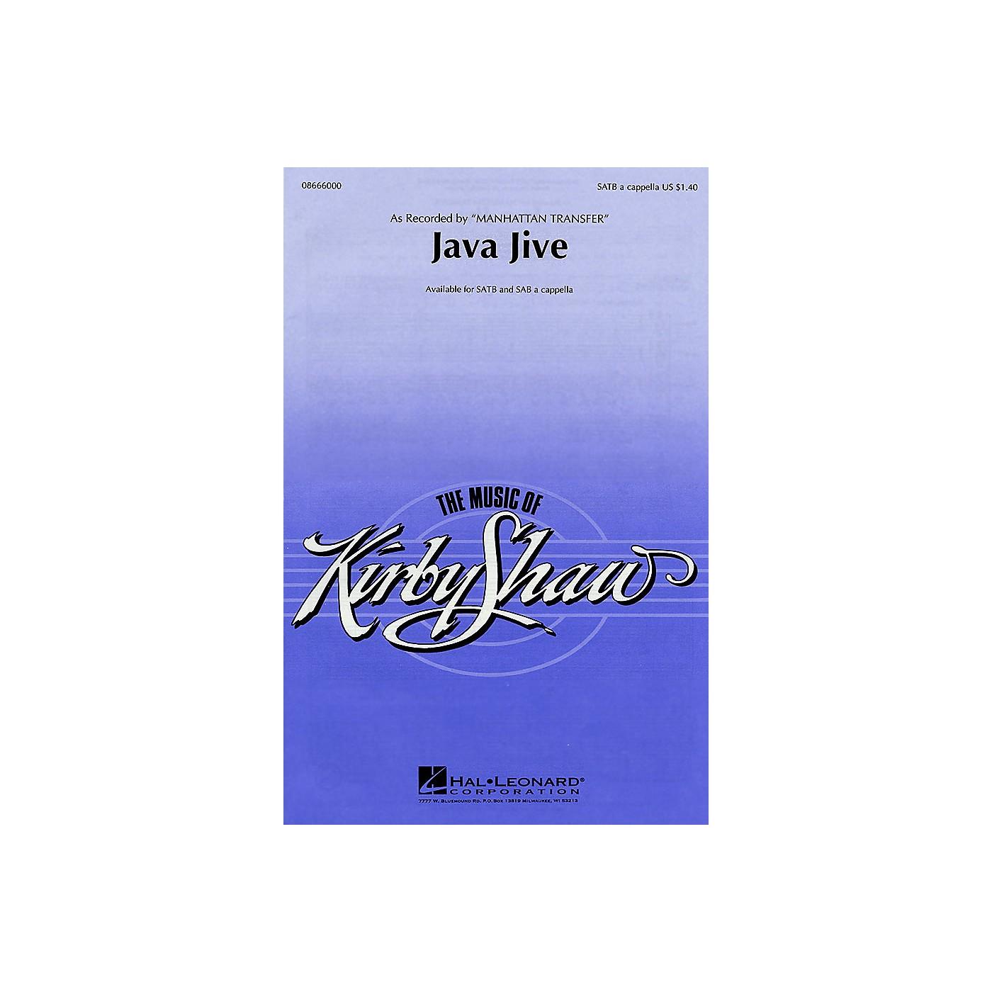Hal Leonard Java Jive SATB a cappella by The Manhattan Transfer arranged by Kirby Shaw thumbnail