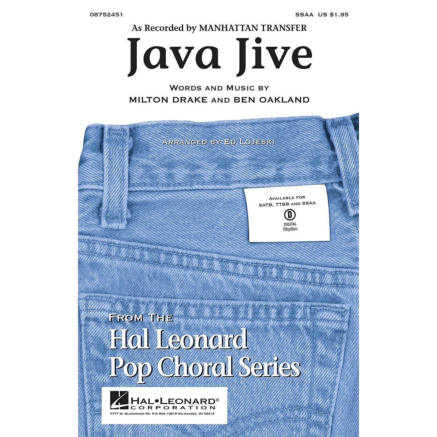 Hal Leonard Java Jive SSAA by Manhattan Transfer arranged by Ed Lojeski thumbnail