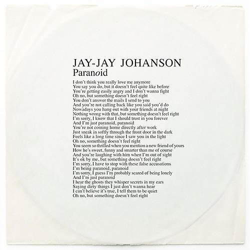 Alliance Jay-Jay Johanson - Paranoid thumbnail
