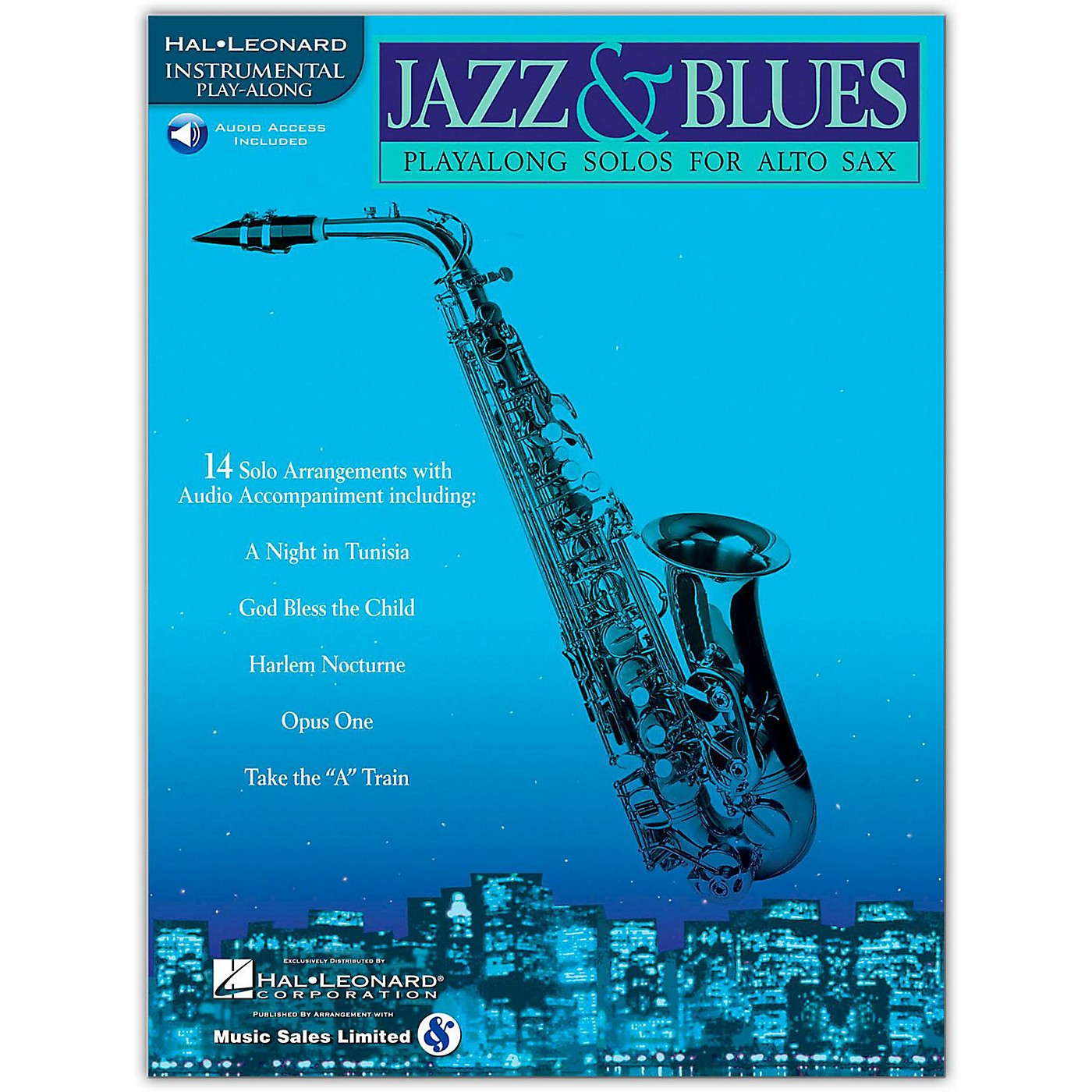 Hal Leonard Jazz And Blues Playalong Solos for Alto Sax (Book/Online Audio) thumbnail