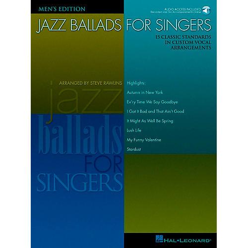 Hal Leonard Jazz Ballads for Singers - Men's Edition Book/CD thumbnail