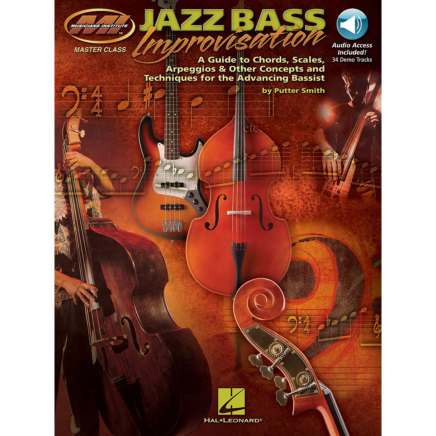 Musicians Institute Jazz Bass Improvisation Musicians Institute Press Series Softcover with CD Written by Putter Smith thumbnail