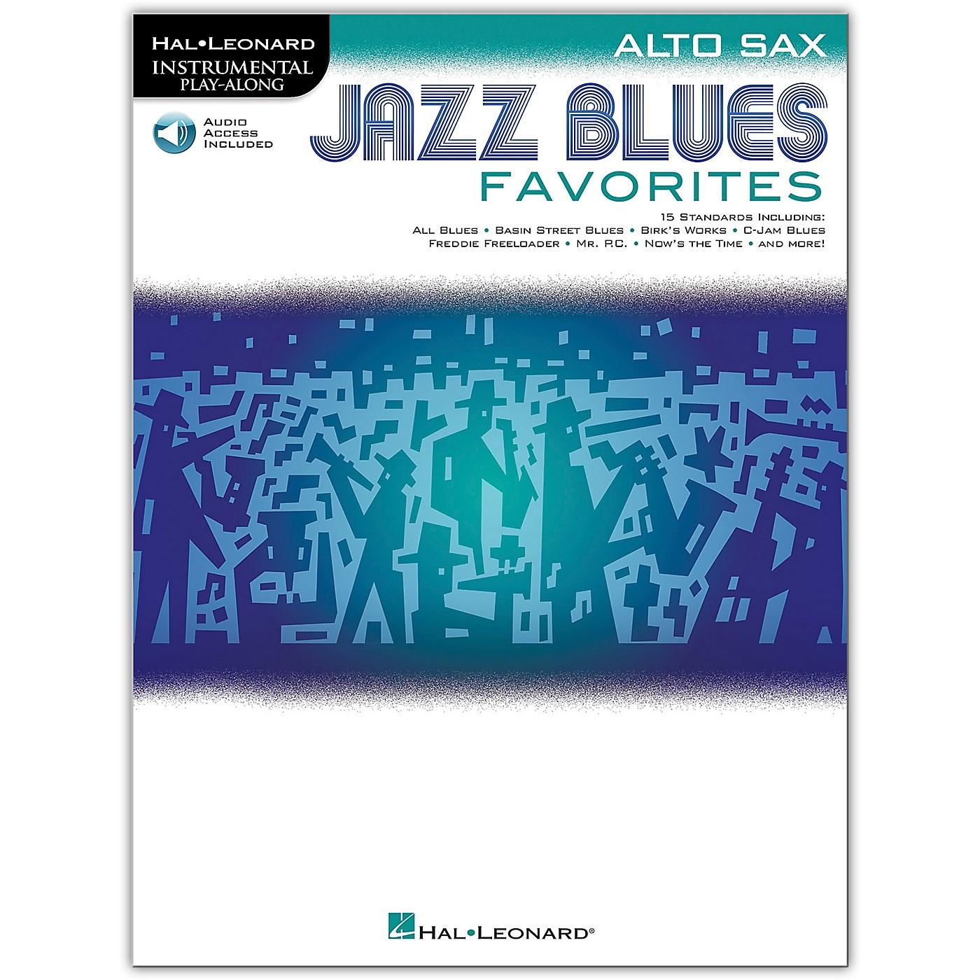 Hal Leonard Jazz Blues Favorites (Alto Sax) Instrumental Play-Along Series Softcover Audio Online thumbnail