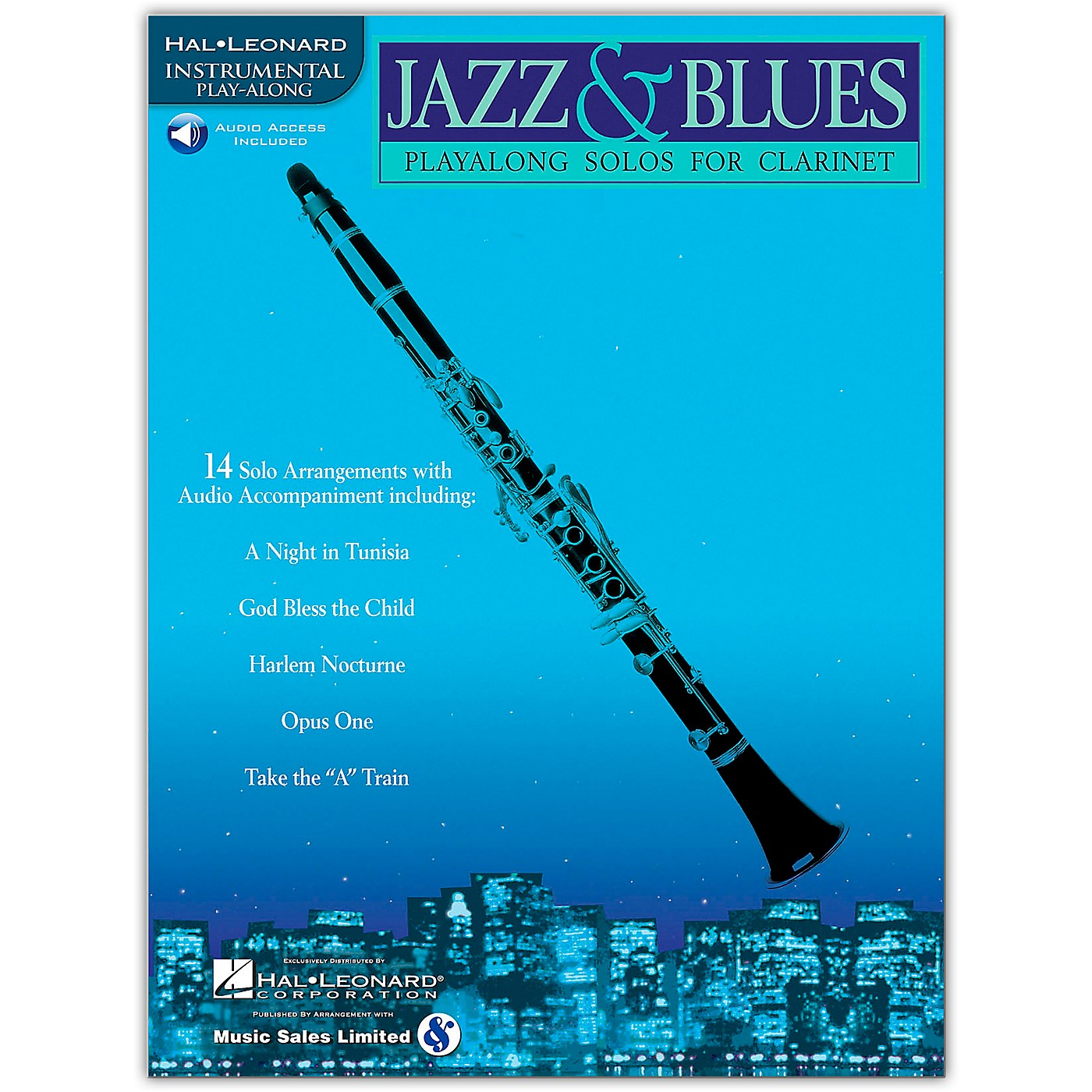 Hal Leonard Jazz & Blues Playalong Solos for Clarinet (Book/Online Audio) thumbnail