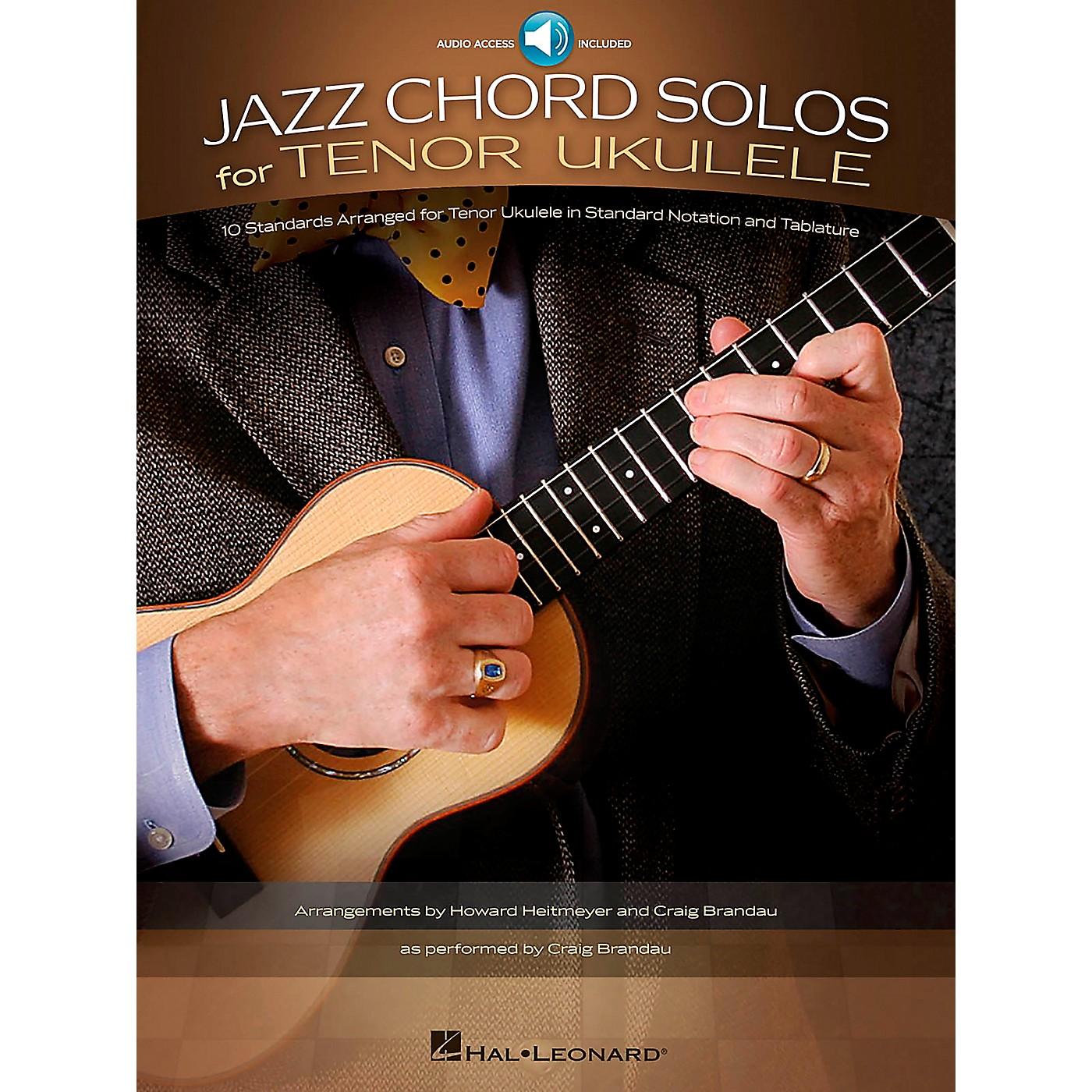 Hal Leonard Jazz Chord Solos For Tenor Ukulele - 10 Standards Arranged For Tenor Ukulele (Book/Online Audio) thumbnail