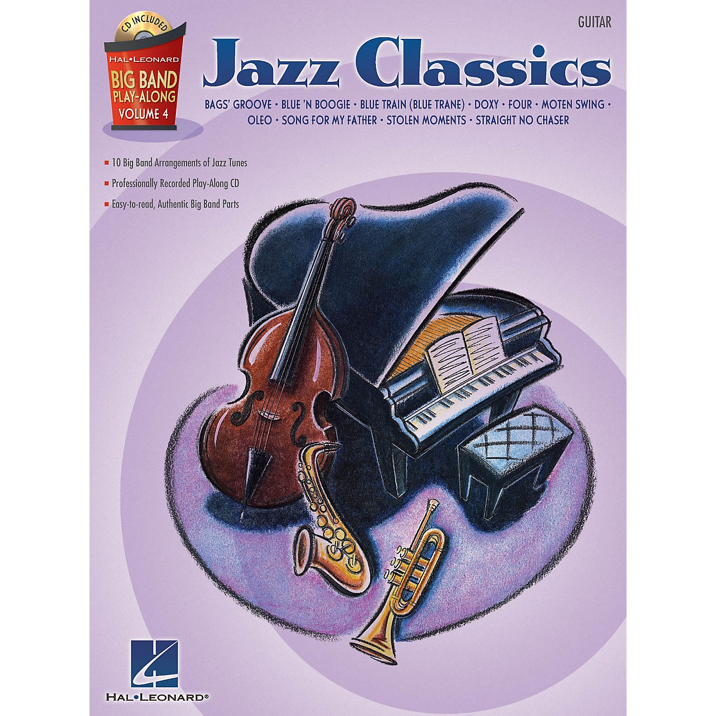 Hal Leonard Jazz Classics - Guitar (Big Band Play-Along Volume 4) Big Band Play-Along Series Softcover with CD thumbnail