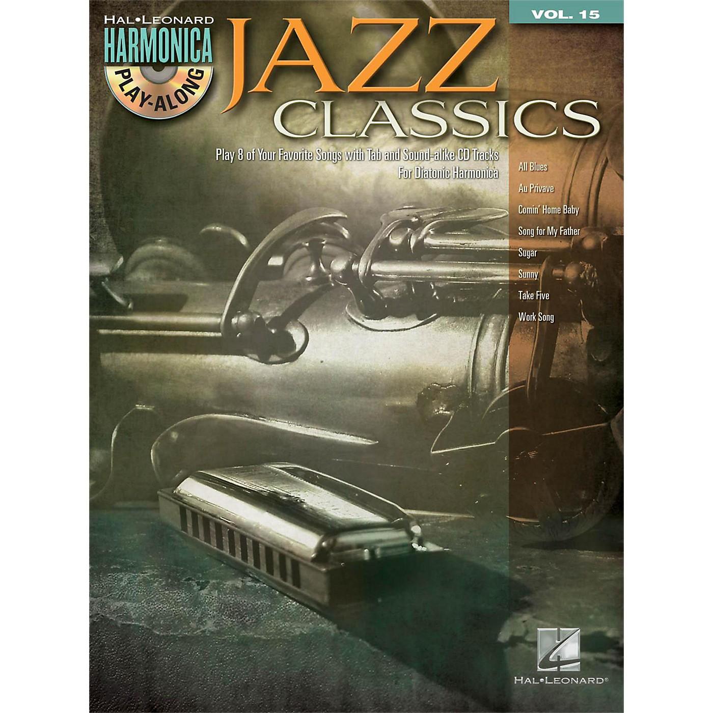 Hal Leonard Jazz Classics - Harmonica Play-Along Volume 15 Book/CD (Diatonic Harmonica) thumbnail