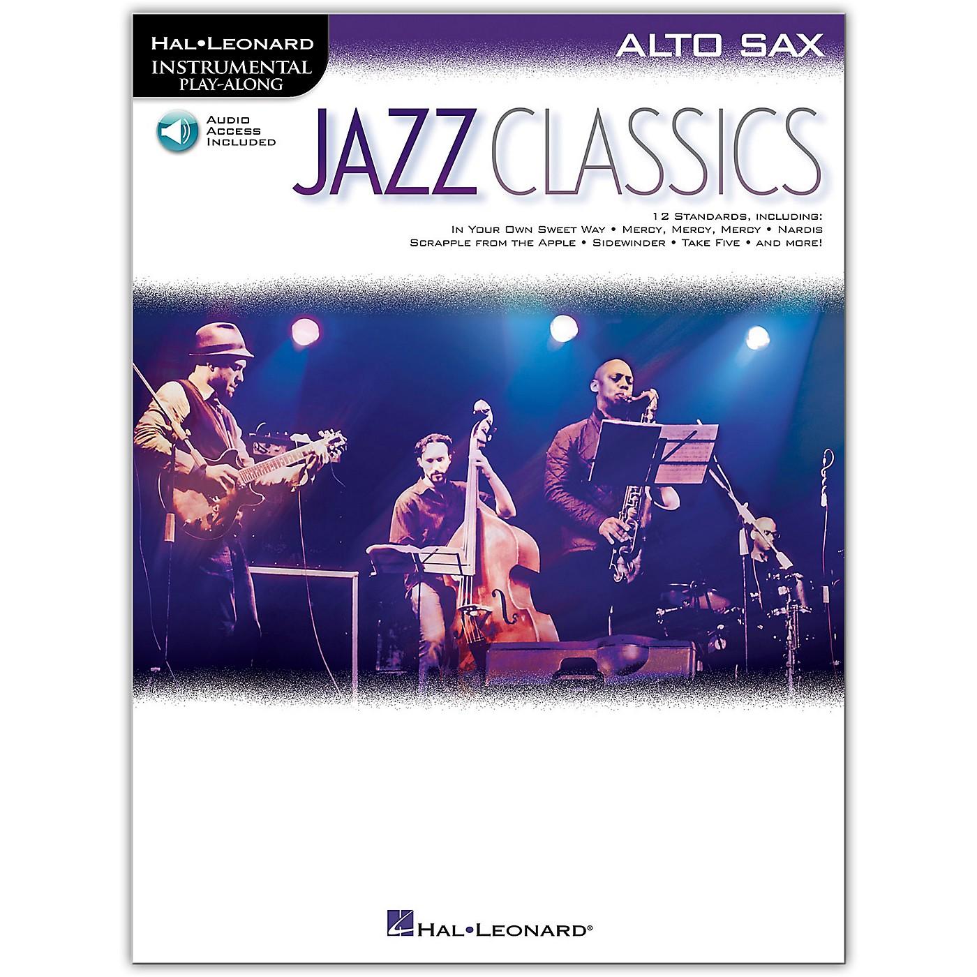 Hal Leonard Jazz Classics For Alto Sax Instrumental Play-Along Book/Audio Online thumbnail