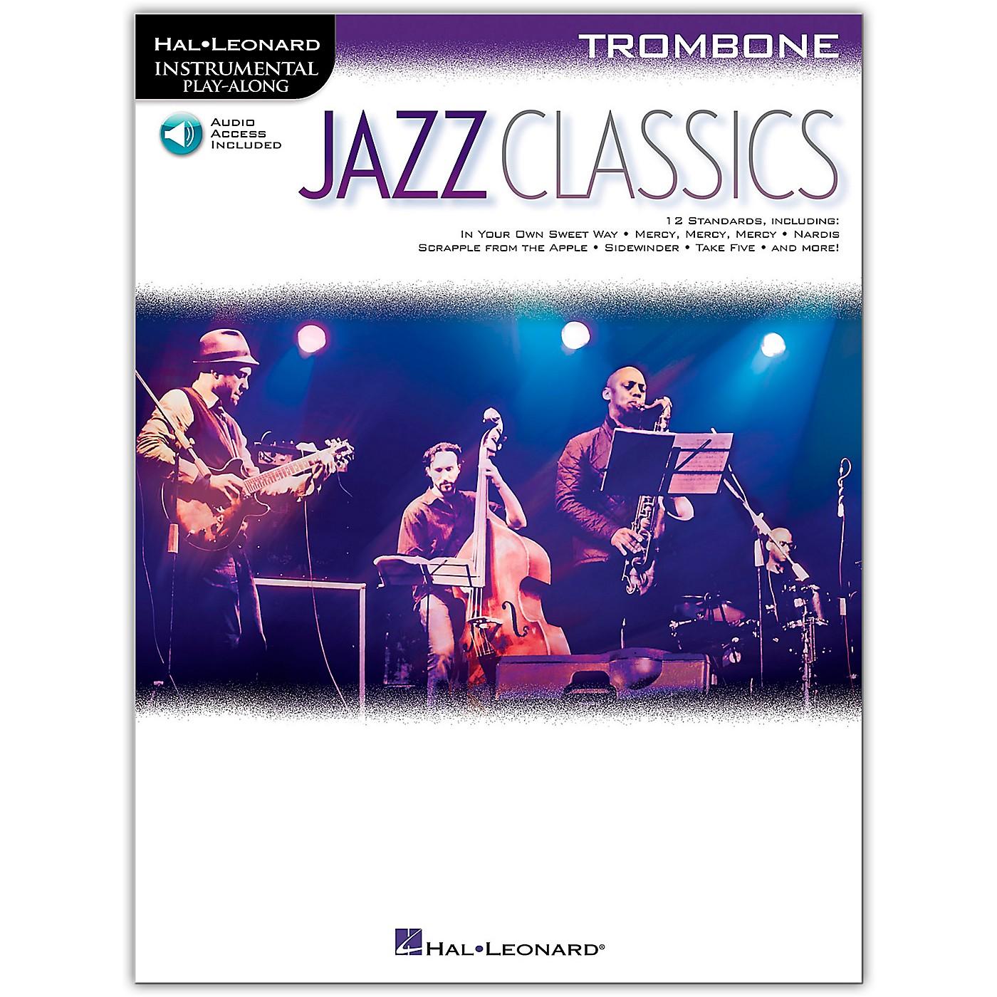 Hal Leonard Jazz Classics For Trombone Instrumental Play-Along Book/Audio Online thumbnail