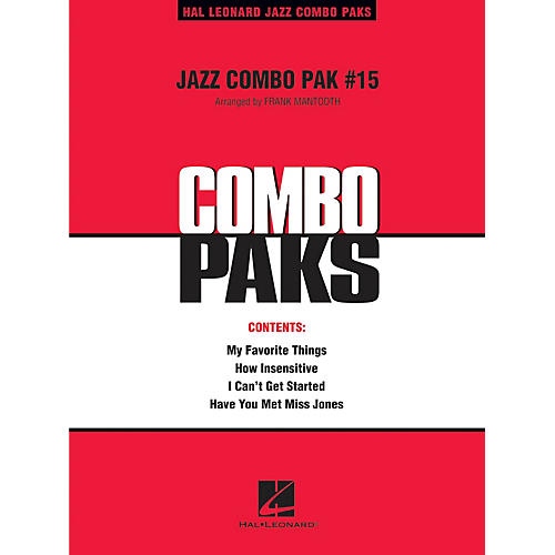 Hal Leonard Jazz Combo Pak #15 (with audio download) Jazz Band Level 3 Arranged by Frank Mantooth thumbnail