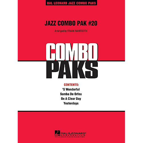 Hal Leonard Jazz Combo Pak #20 (with audio download) Jazz Band Level 3 Arranged by Frank Mantooth thumbnail