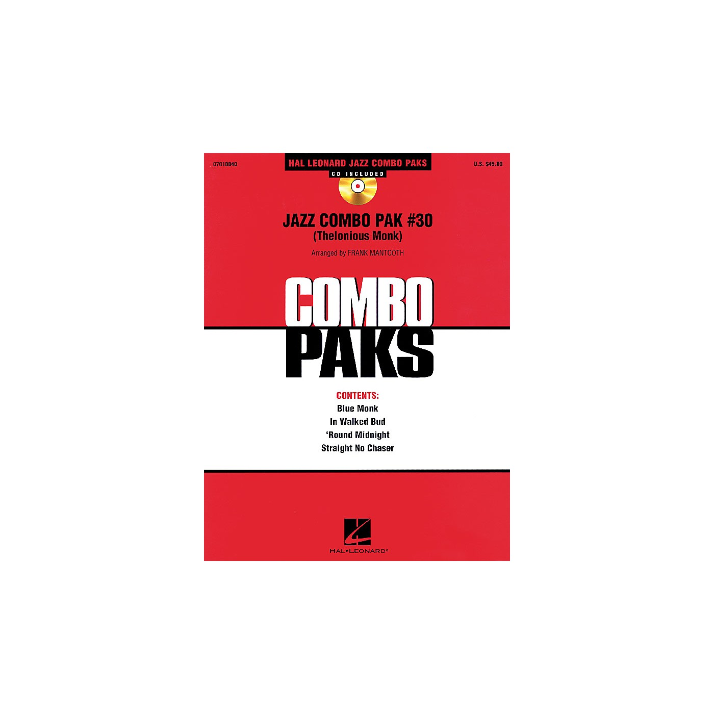 Hal Leonard Jazz Combo Pak #30 (Thelonious Monk) Jazz Band Level 3 by Thelonious Monk Arranged by Frank Mantooth thumbnail
