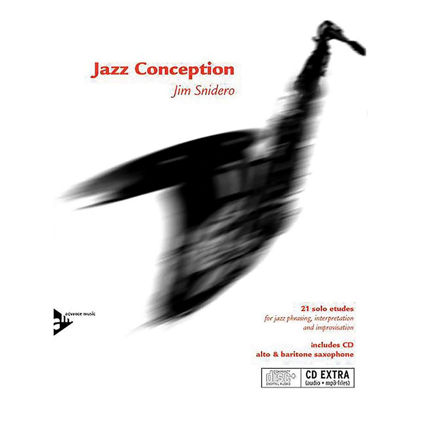 ADVANCE MUSIC Jazz Conception: Alto & Baritone Saxophone Book & MP3 CD (English/German Edition) thumbnail