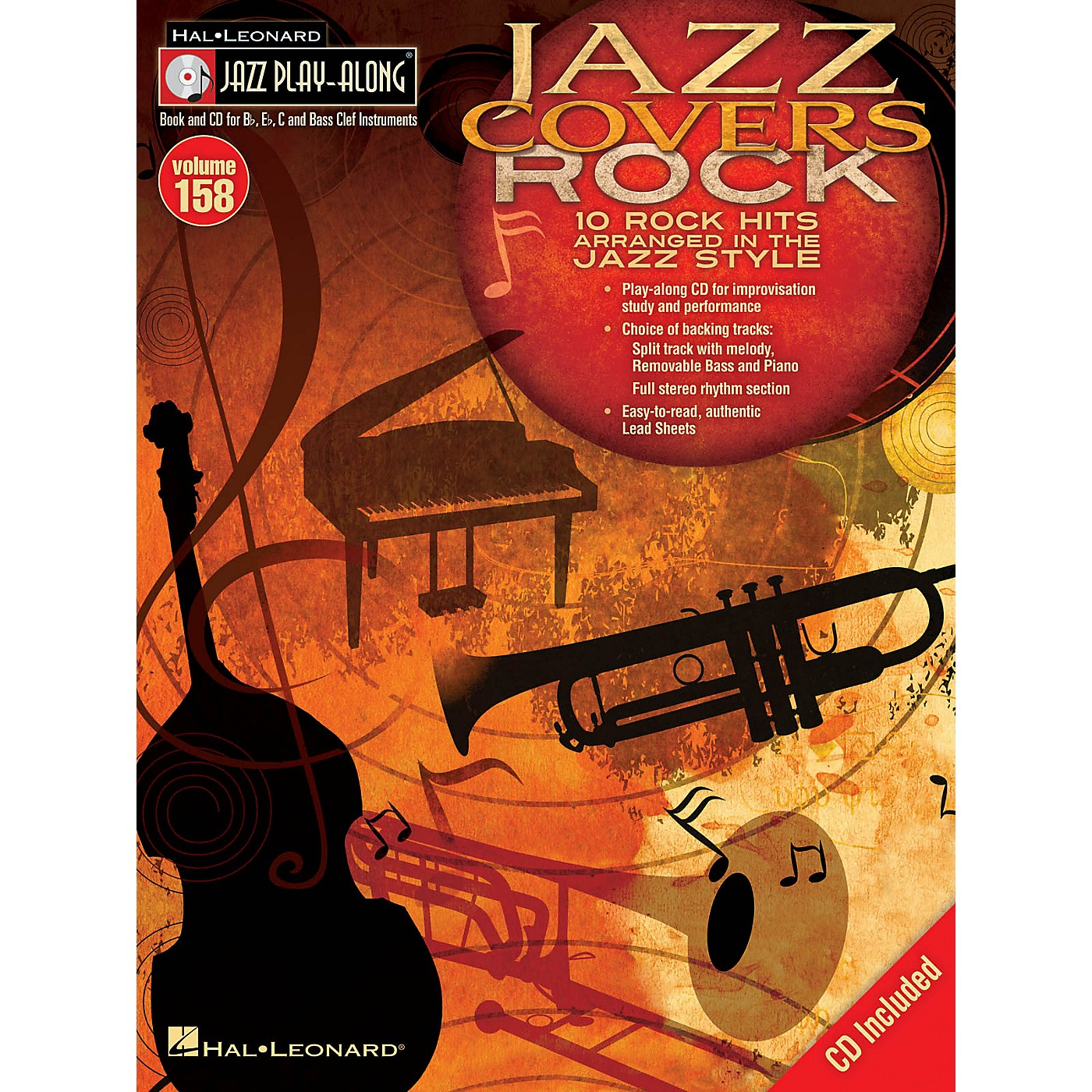 Hal Leonard Jazz Covers Rock (Jazz Play-Along Volume 158) Jazz Play Along Series Softcover with CD thumbnail