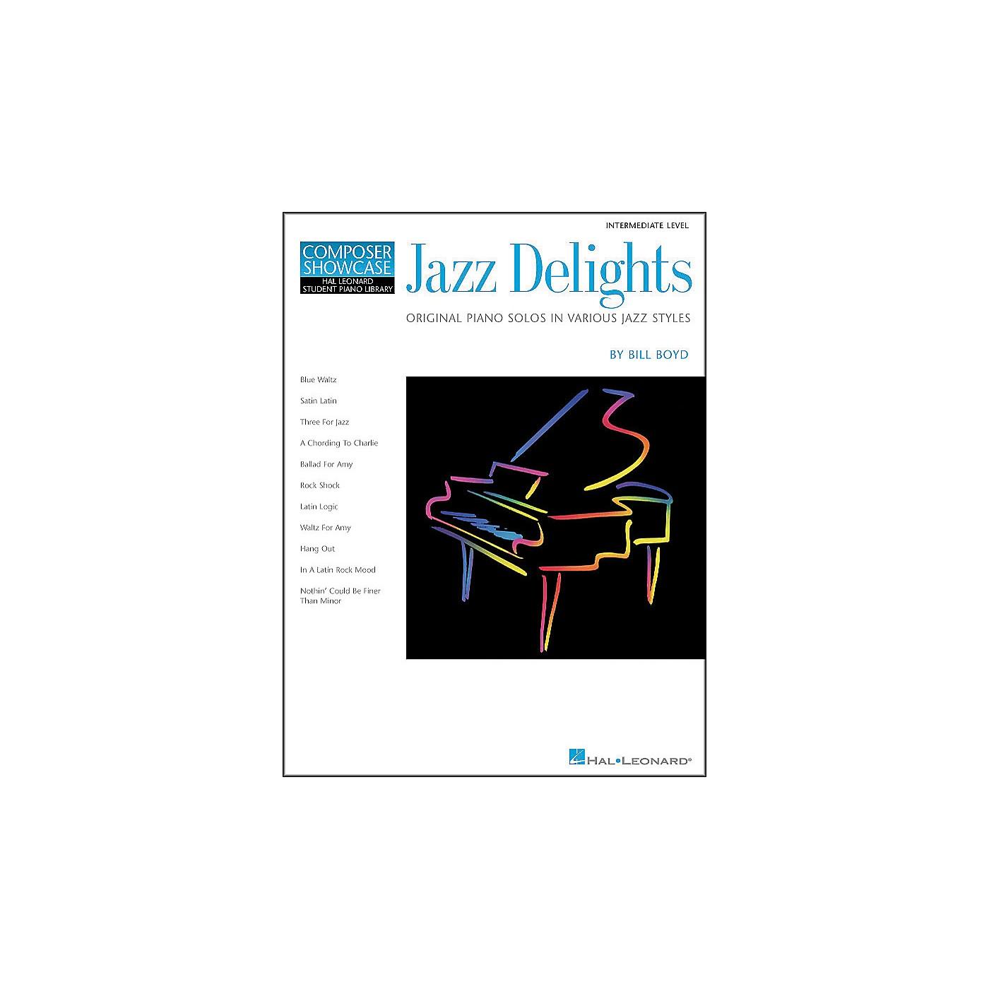 Hal Leonard Jazz Delights Lower Intermediate Level Hal Leonard Student Piano Library by Bill Boyd thumbnail