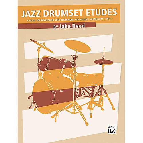 Alfred Jazz Drumset Etudes Developing Solo Techniques and Melodic Vocabulary Vol. 1 Book thumbnail