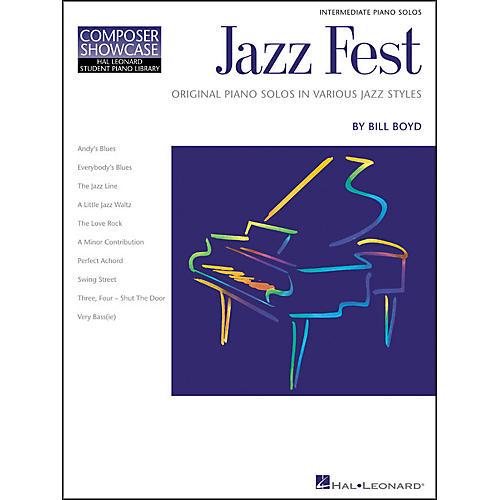 Hal Leonard Jazz Fest Intermediate Level Hal Leonard Student Piano Library by Bill Boyd thumbnail