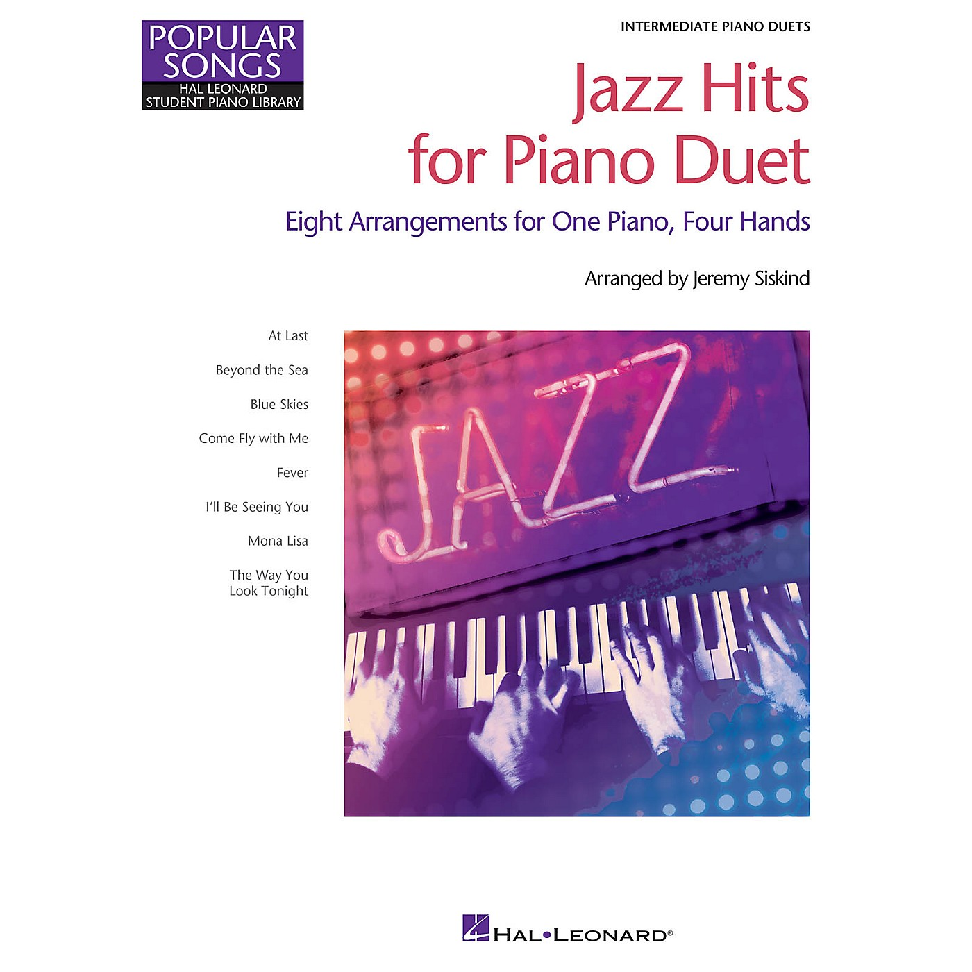 Hal Leonard Jazz Hits for Piano Duet Piano Library Series Book by Various (Level Inter) thumbnail
