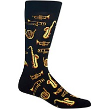 Hot Sox Jazz Instruments - Mens Black Sock