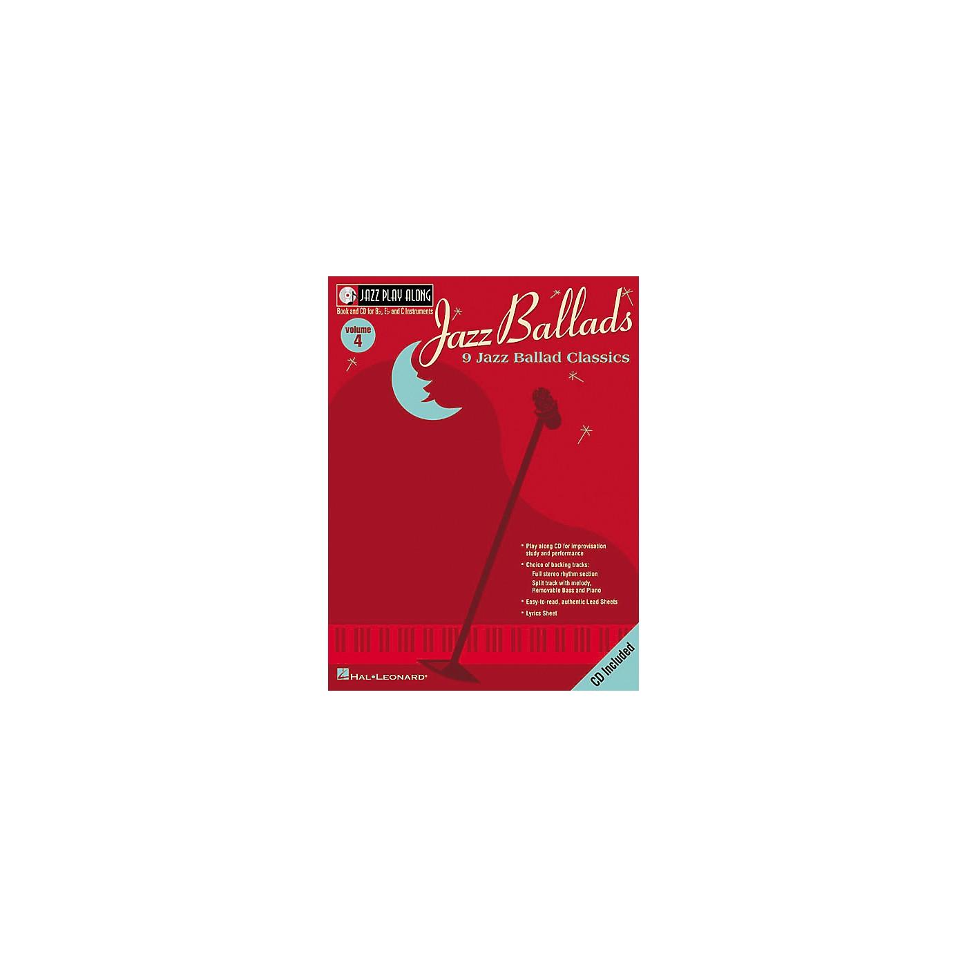Hal Leonard Jazz Play-Along Series Jazz Ballads Book with CD thumbnail