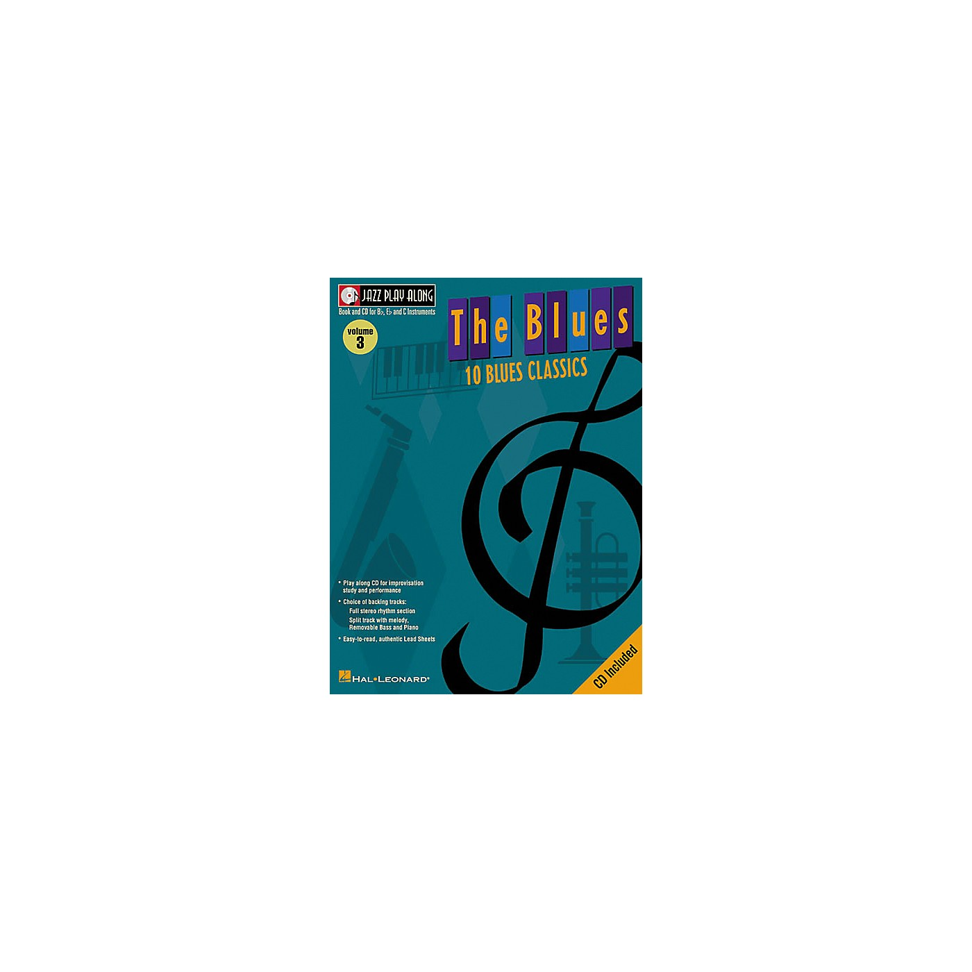Hal Leonard Jazz Play-Along Series The Blues Book with CD thumbnail