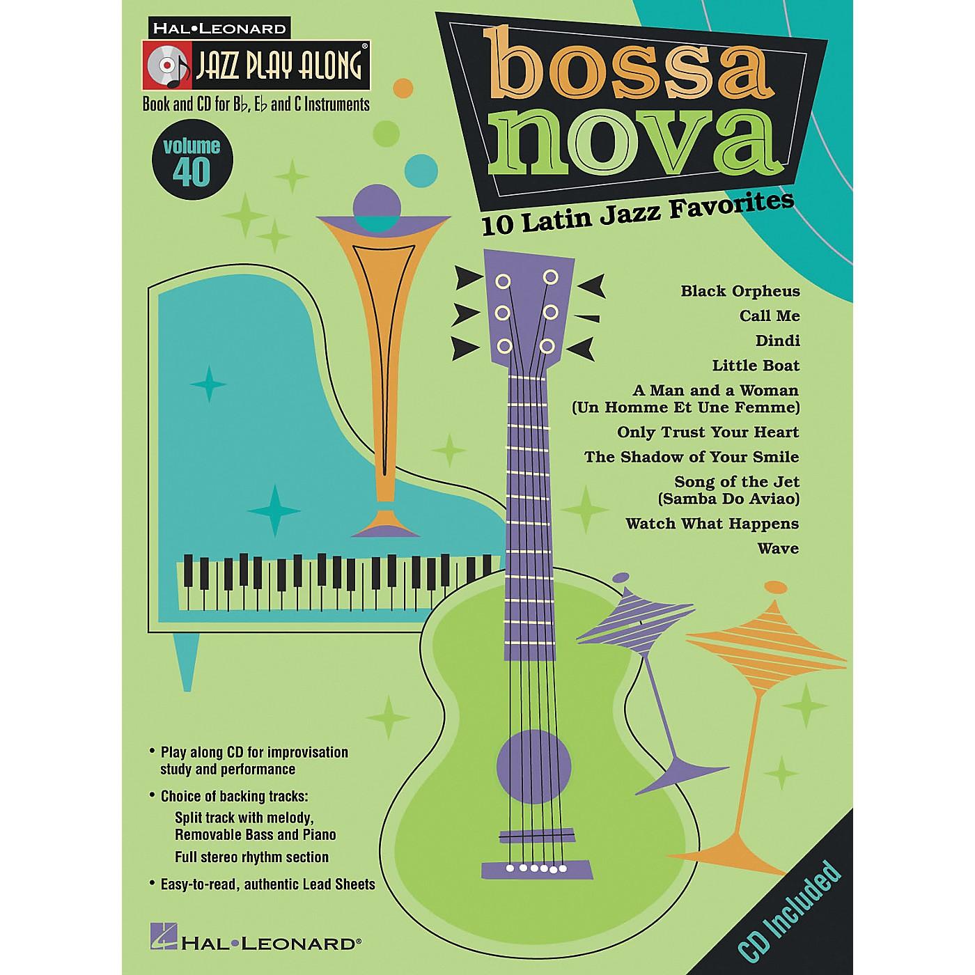 Hal Leonard Jazz Play Along Series, Volume 40: Bossa Nova - 10 Latin Jazz Favorites (Book/CD) thumbnail