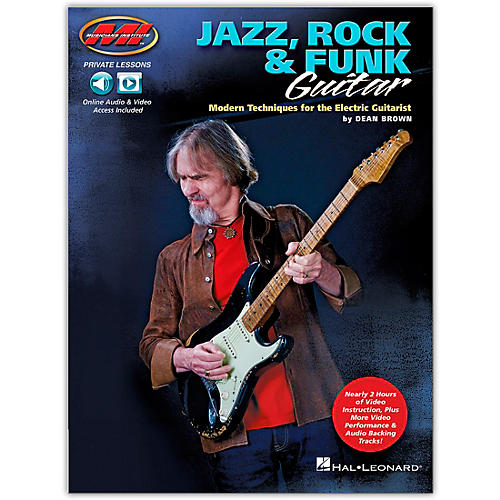 Musicians Institute Jazz, Rock & Funk Guitar - Modern Techniques for the Electric Guitarist Private Lessons Series Book/Audio Online thumbnail