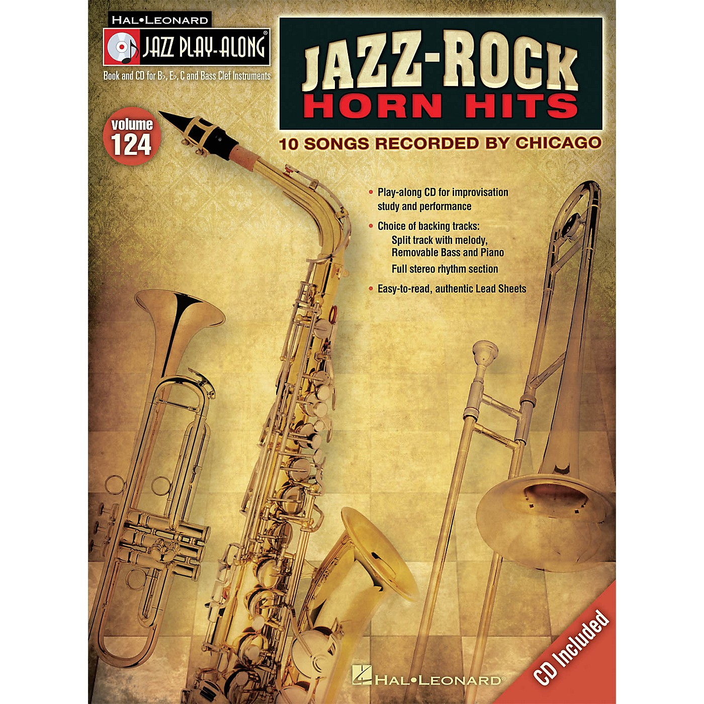 Hal Leonard Jazz-Rock Horn Hits Jazz Play Along Series Softcover with CD by Chicago thumbnail